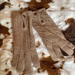 NWOT Lauren by Ralph Lauren woven gloves